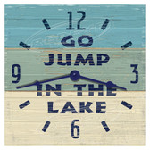 Go Jump In The Lake Blue Decorative Wall Clock