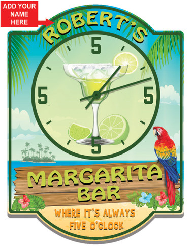 Personalized Margarita Bar Clock