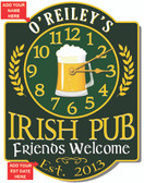 Irish Pub Personalized Clock