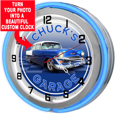 Muscle Car Custom Neon Clock