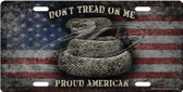 Don't Tread On Me American Flag License Plate Tag