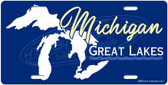 Michigan Great Lakes License Plate