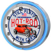 American Hot Rod Neon Garage Clock