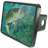 Bass Fishing Trailer Hitch Cover