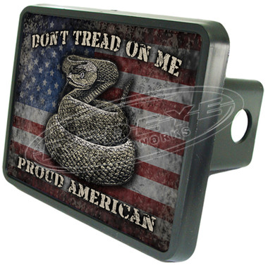 Gadsden Flag Patriotic Trailer Hitch Cover
