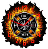 Personalized Firefighter Flame Clock