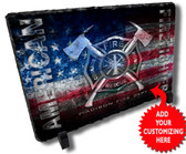 Patriotic FIrefighter Stone Plaque