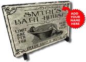 Personalized Bath House Stone Plaque