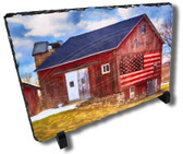 American Patriotic Heritage Farm Decorative Stone Plaque