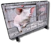 Country Pigsty Barnyard Welcome Stone Plaque