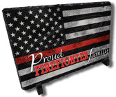 Proud Firefighter Family Stone Plaque