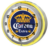 Corona Beer Neon Garage Clock