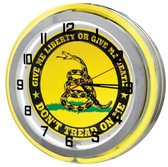 Gadsden Flag Neon Garage Clock
