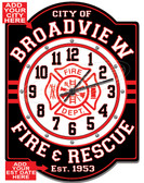 Customized firefighter Wall Clock
