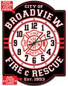 Customized firefighter Wall Clock