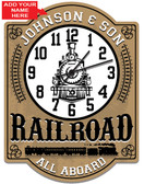 Personalized Railroad Wall Clock