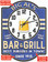 Bar and Grill Sign Blue