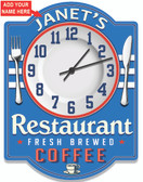 Personalized Vintage Restaurant Wall Clock