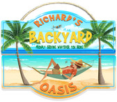 Backyard Oasis Personalized Wall Sign