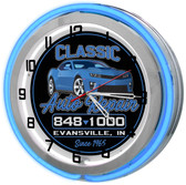 Customized Automotive Repair Shop Clock (Blue)