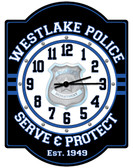Personalized Police Station Wall Clock