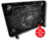 Marines NCO Creed Personalized Stone Plaque