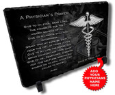 Physicians Prayer Stone Plaque