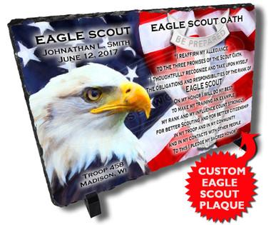 Eagle Scout Commemorative Boy Scout Personalized Stone Plaque