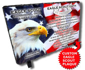 Eagle Scout Commemorative Boy Scout Personalized Stone Plaque