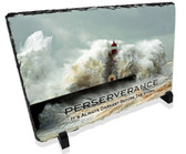 Perseverance Motivational Lighthouse Stone Plaque