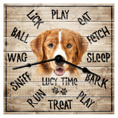 Personalized Family Dog Decorative  Wall Clock