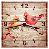 Cardinals Decorative Wall Clock