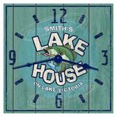 Personalized Lake House Decorative  Wall Clock