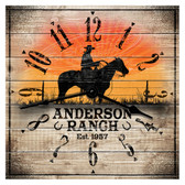 Personalized Western Themed Ranch Decorative  Wall Clock