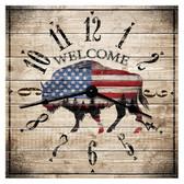 American Buffalo Themed Decorative  Wall Clock