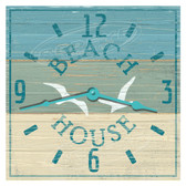 Beach House Themed Decorative  Wall Clock