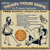 Vintage Novelty Train Your Wife Decorative  Wall Clock