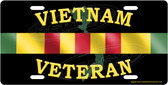 Vietnam Veteran Service Bar License Plate Tag