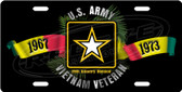 Personalized US Army Vietnam Veteran License Plate Tag