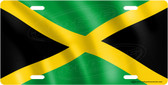 Jamaican Flag License Plate Tag