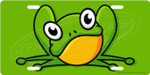 Green Frog License Plate Tag