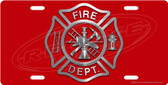 American Firefighter License Plate Tag