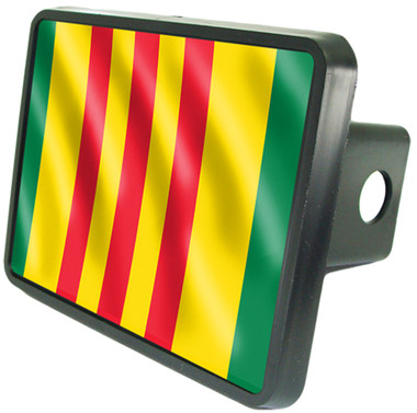 Vietnam Veteran Service Flag Trailer Hitch Plug Cover