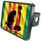 "Vietnam Veteran ""Not Forgotten"" Service Flag Trailer Hitch Plug Cover"