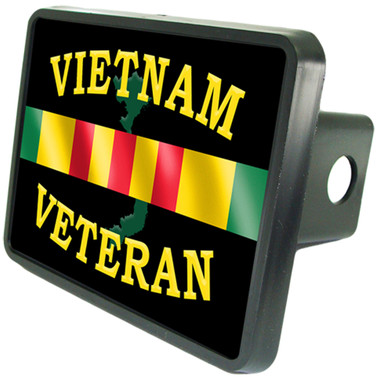 Vietnam Veteran Service Bar Trailer Hitch Plug Cover
