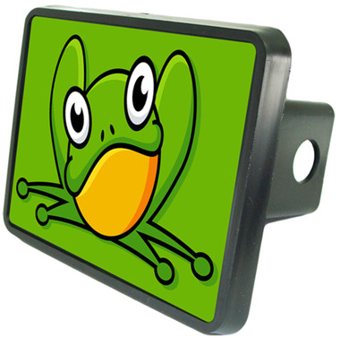 Green Frog Trailer Hitch Plug Cover