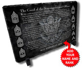 Personalized Army NCO Creed Stone Plaque