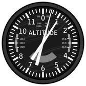 Pilots Altitude Instrumentation Decorative Wall Clock