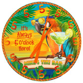 "Personalized Tiki Bar ""Always 5 O'clock"" Wall Clock"