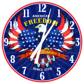 American Freedom Eagle Decorative Wall Clock